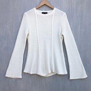 Ann Taylor wool blend flared sleeve sweater M